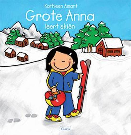 Grote Anna leert skiën