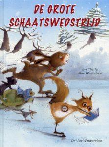 prentenboek grote schaatswedstrijd Westerlund Tharlet