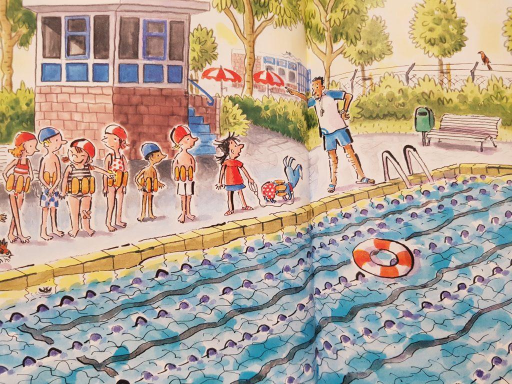 prentenboek sam en Bennie en het zwemdiploma koppens meijer