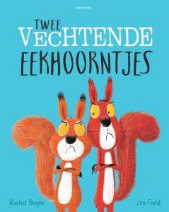 prentenboek twee vechtende eekhoorntjes field bright