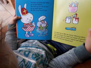 Boekie delen prentenboek sint met fien en milo oud
