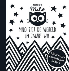 babyboekje milo ziet de wereld in zwart wit blyth
