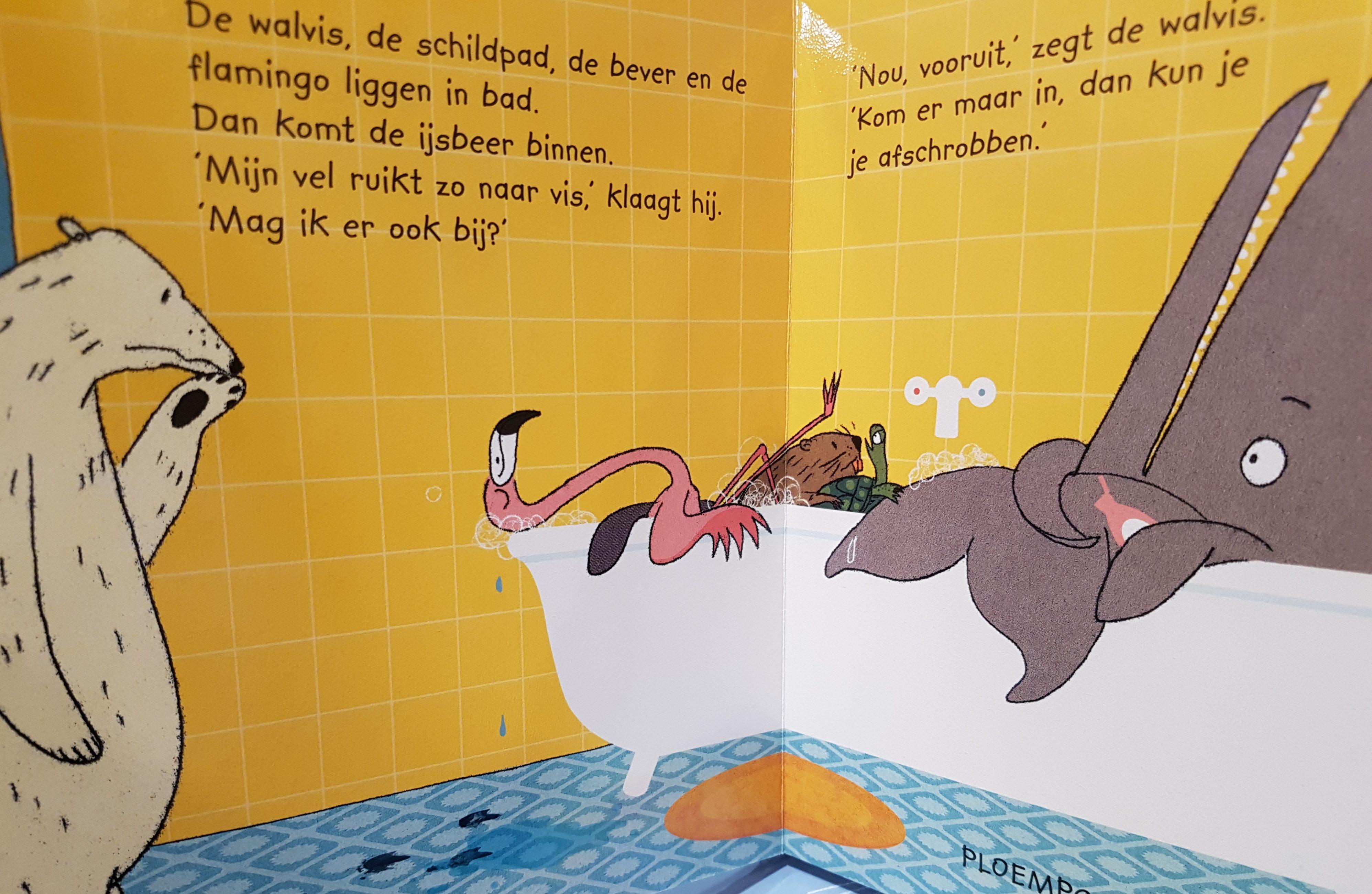 prentenboek walvis gaat in bad strasser