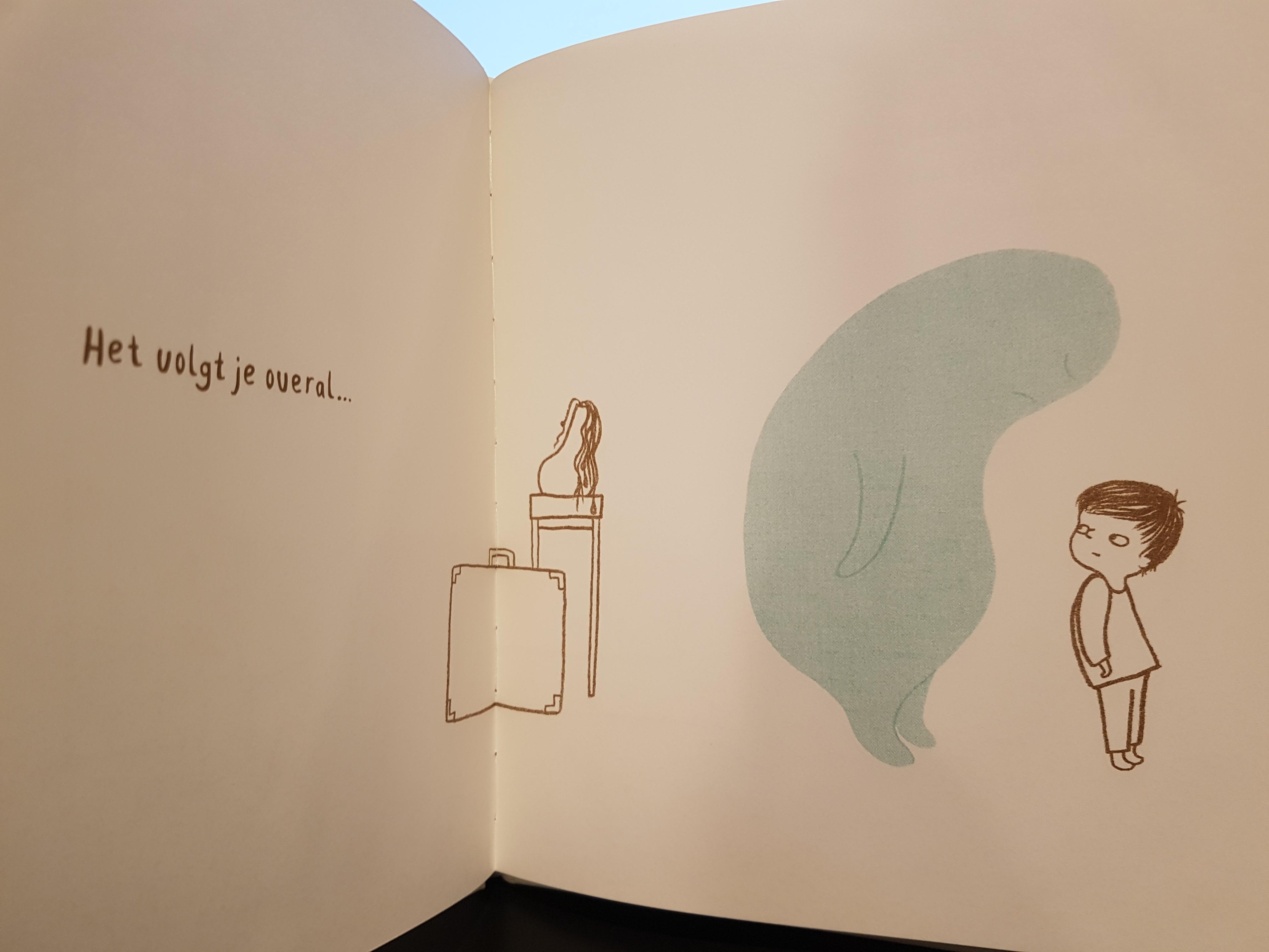prentenboek als verdriet op bezoek komt eland