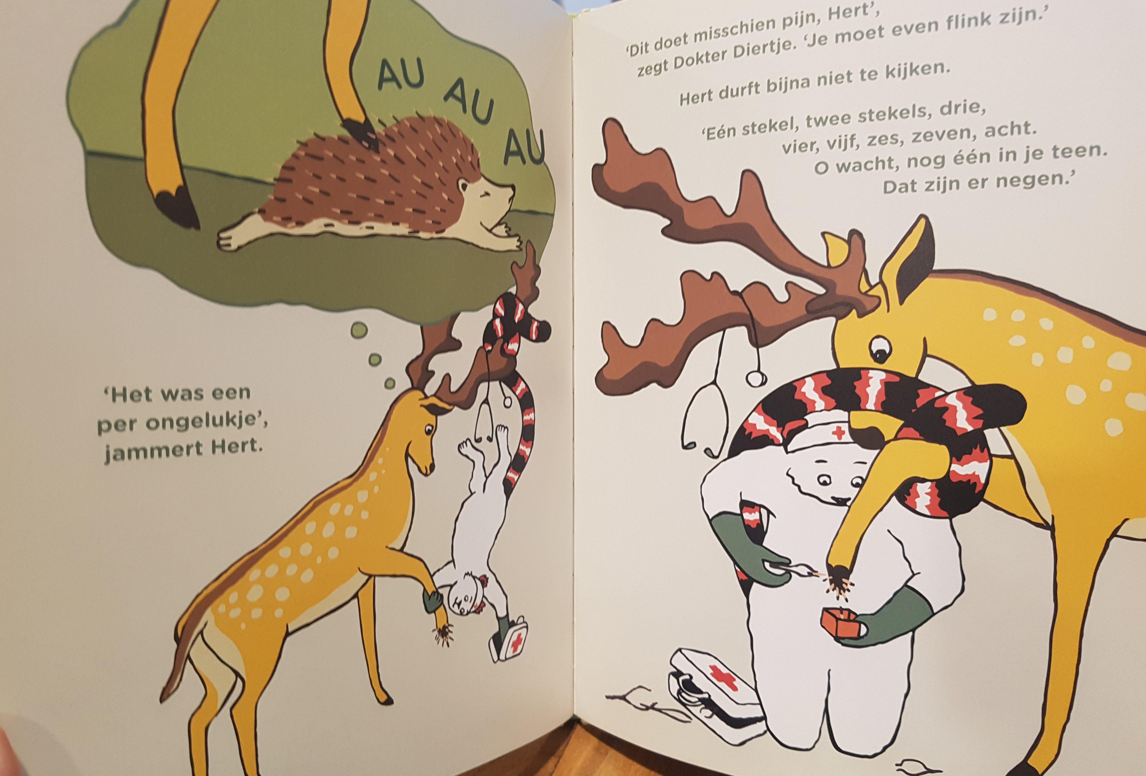 prentenboek dokter diertje en het hijgende hert heiligers