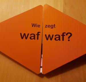 prentenboek Wie zegt wat? Mroziewicz