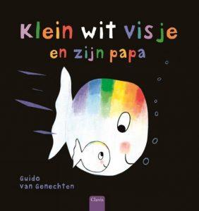prentenboek klein wit visje en zijn papa van genechten