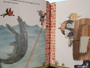 prentenboek de muur in het midden van het boek agee
