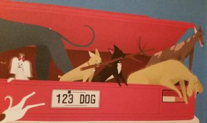 prentenboek honden in de auto massie walker