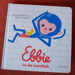 prentenboek Ebbie in de wasbak Marjet Huiberts en Milja Praagman,