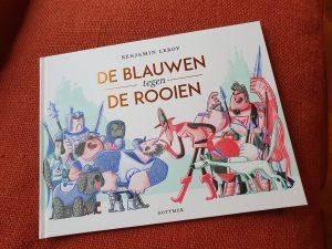 prentenboek De blauwen tegen de rooien Benjamin Leroy