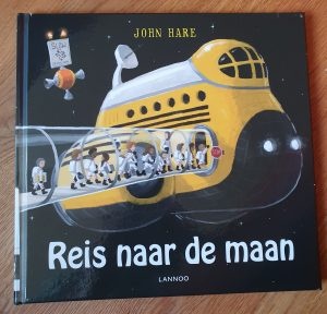 prentenboek reis naar de maan john hare